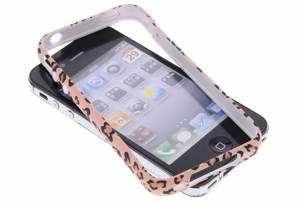 Roze cheetah design bumper voor de iPhone 4 / 4s