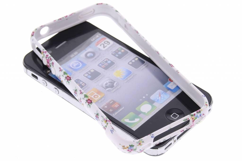 Bloemetjes design bumper voor de iPhone 4 / 4s