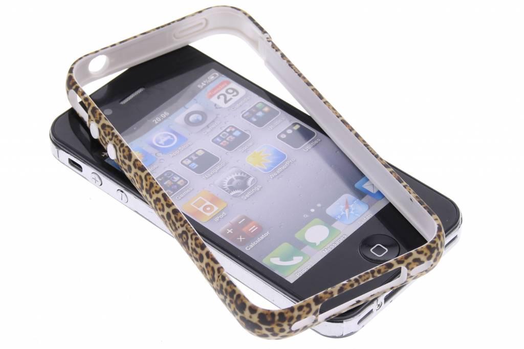 Luipaard design bumper voor de iPhone 4 / 4s