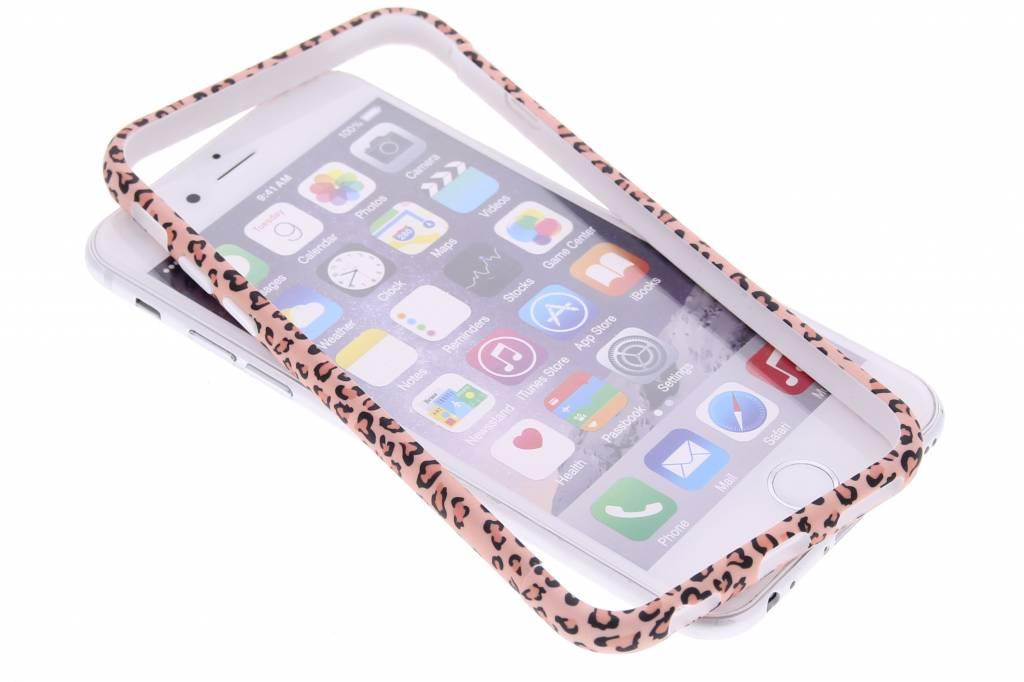 Roze cheetah design bumper voor de iPhone 6 / 6s