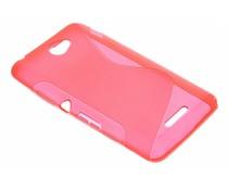 Rood S-line TPU hoesje Sony Xperia E4