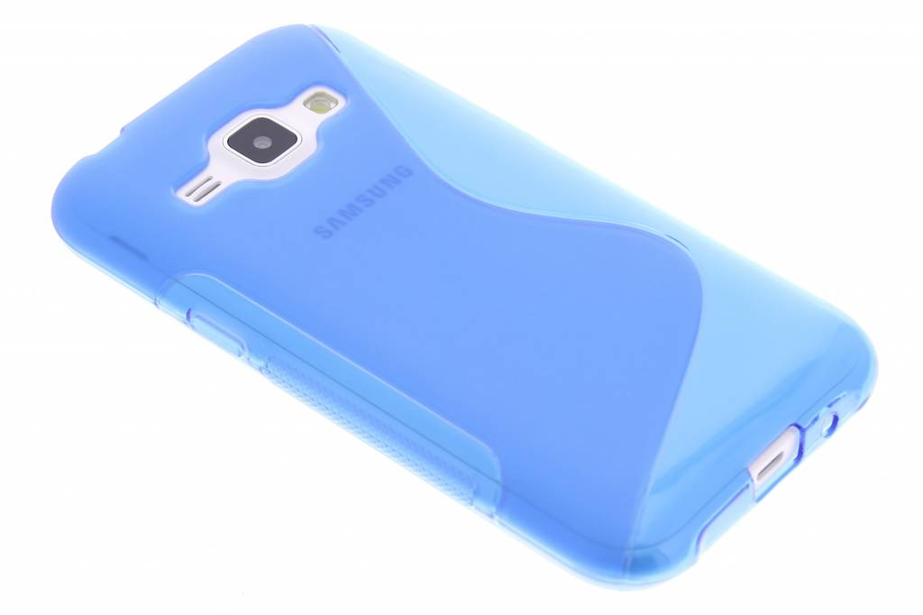 Blauw S-line TPU hoesje voor de Samsung Galaxy J1