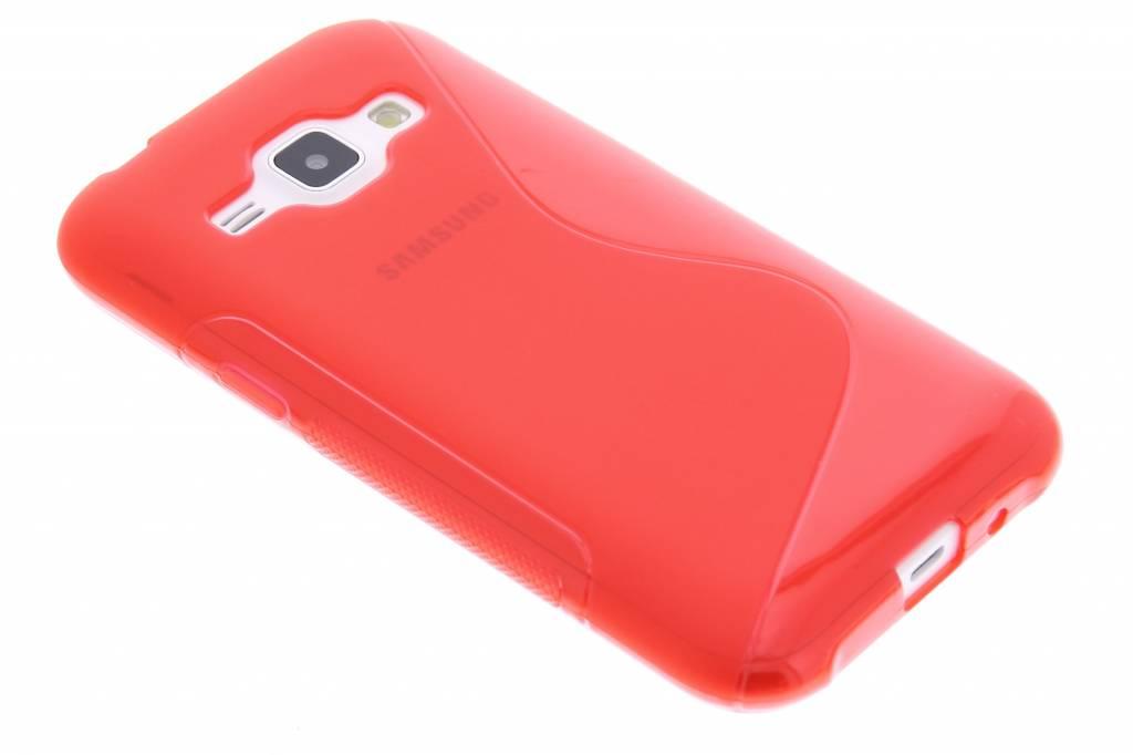 Rood S-line TPU hoesje voor de Samsung Galaxy J1