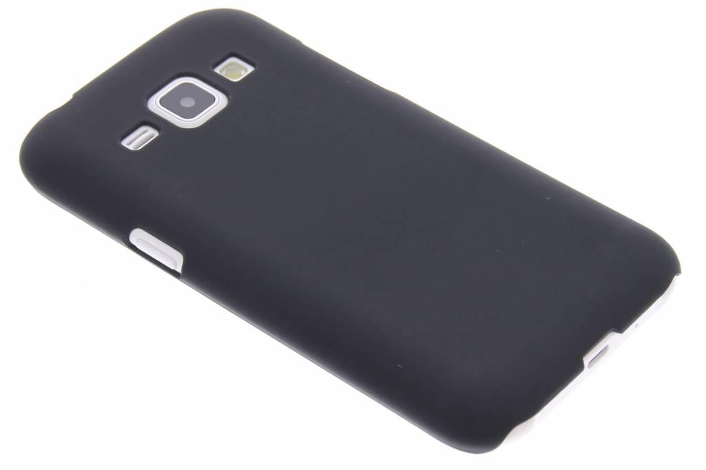 Zwart effen hardcase hoesje voor de Samsung Galaxy J1