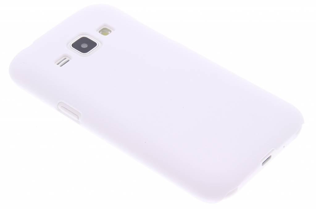 Wit effen hardcase hoesje voor de Samsung Galaxy J1