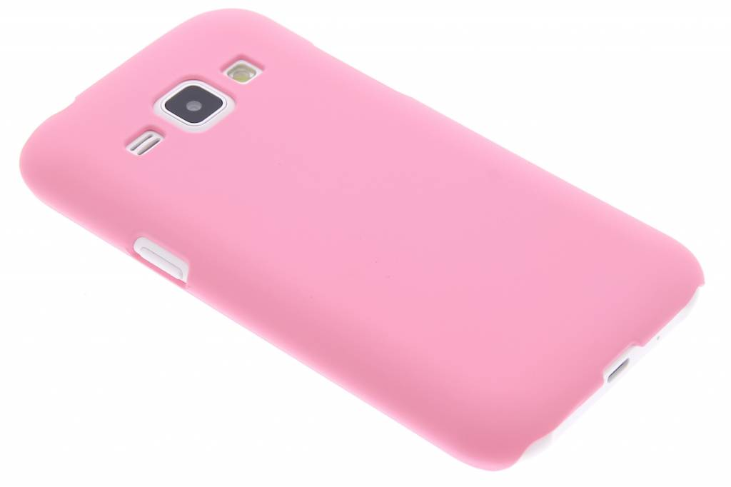 Roze effen hardcase hoesje voor de Samsung Galaxy J1