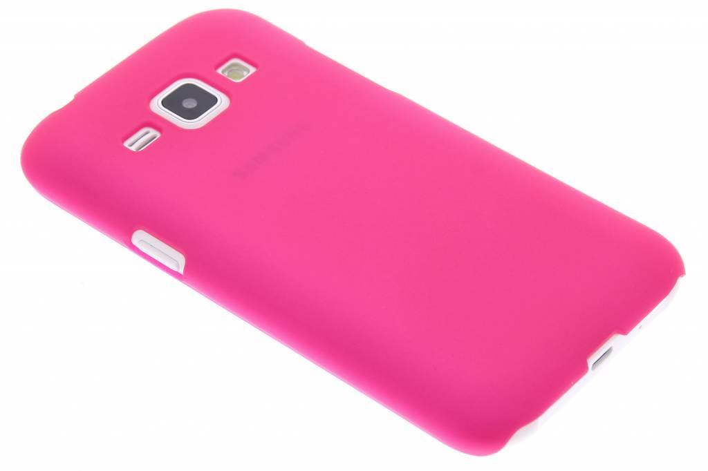 Fuchsia effen hardcase hoesje voor de Samsung Galaxy J1