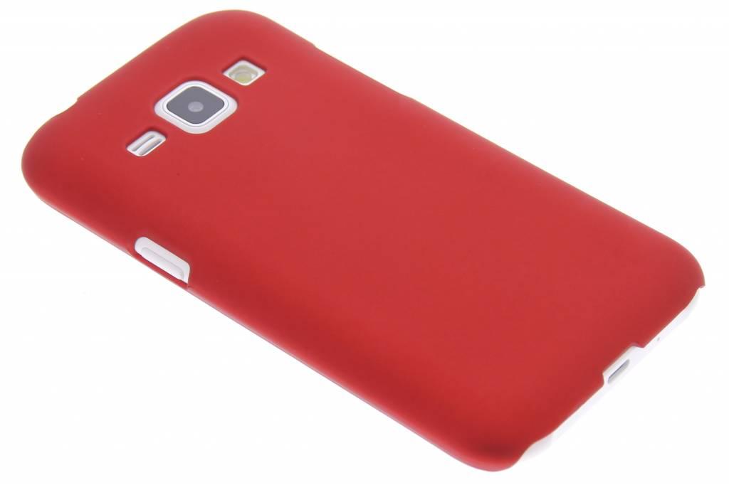 Rood effen hardcase hoesje voor de Samsung Galaxy J1