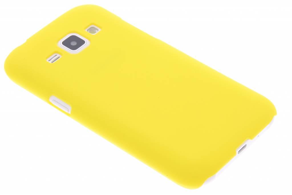 Geel effen hardcase hoesje voor de Samsung Galaxy J1