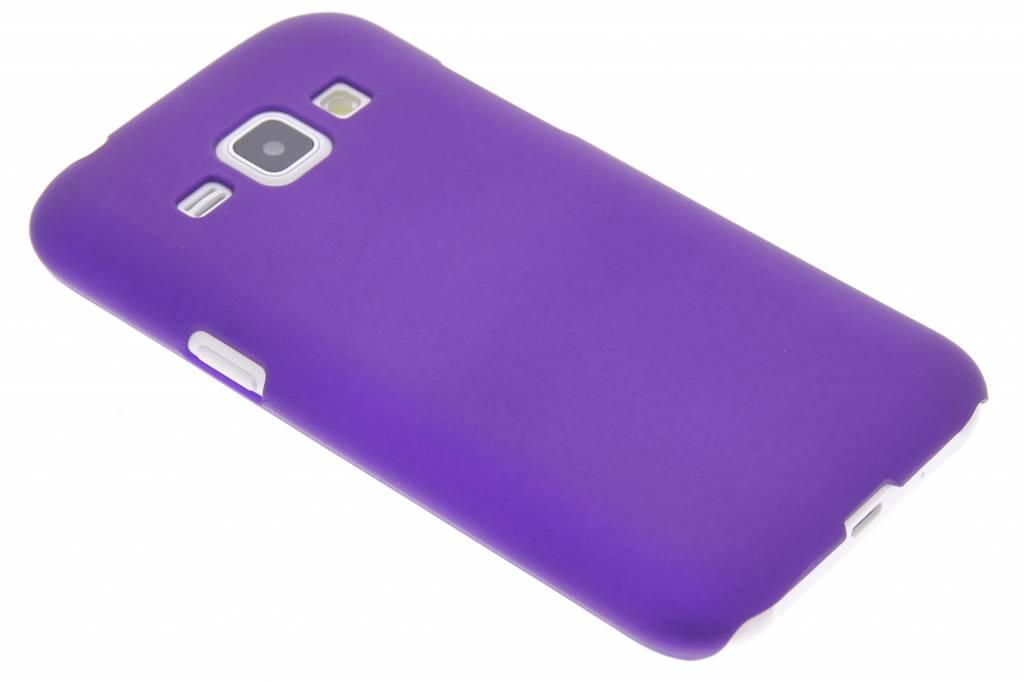 Paars effen hardcase hoesje voor de Samsung Galaxy J1