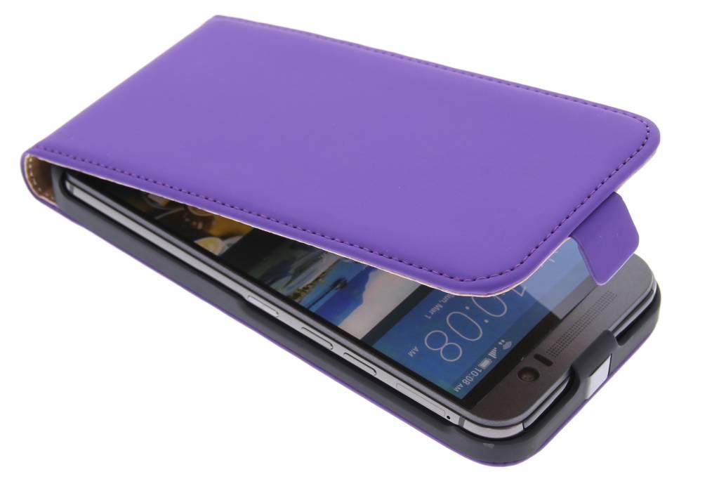 premium flipcase voor de HTC One M9 Purple