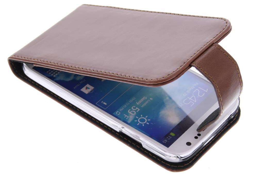 Valenta Flip classic luxe voor de Samsung Galaxy S4 - Brown