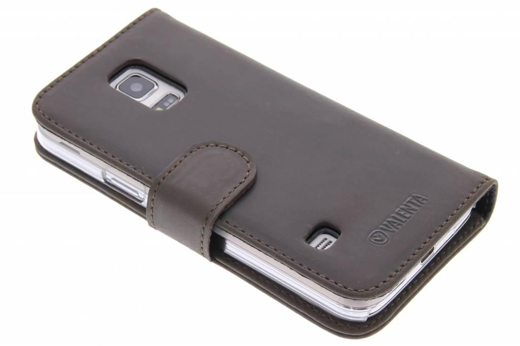 Valenta Booklet Classic Luxe voor de Samsung Galaxy S5 Mini - Vintage Brown