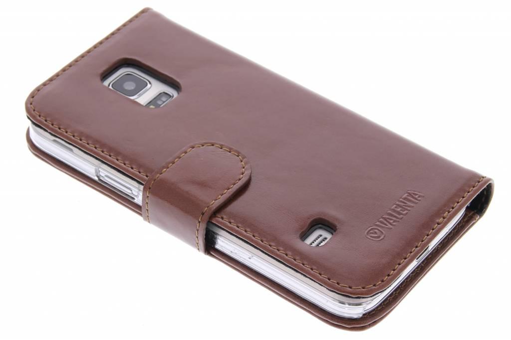 Valenta Booklet Classic Luxe voor de Samsung Galaxy S5 Mini - Brown