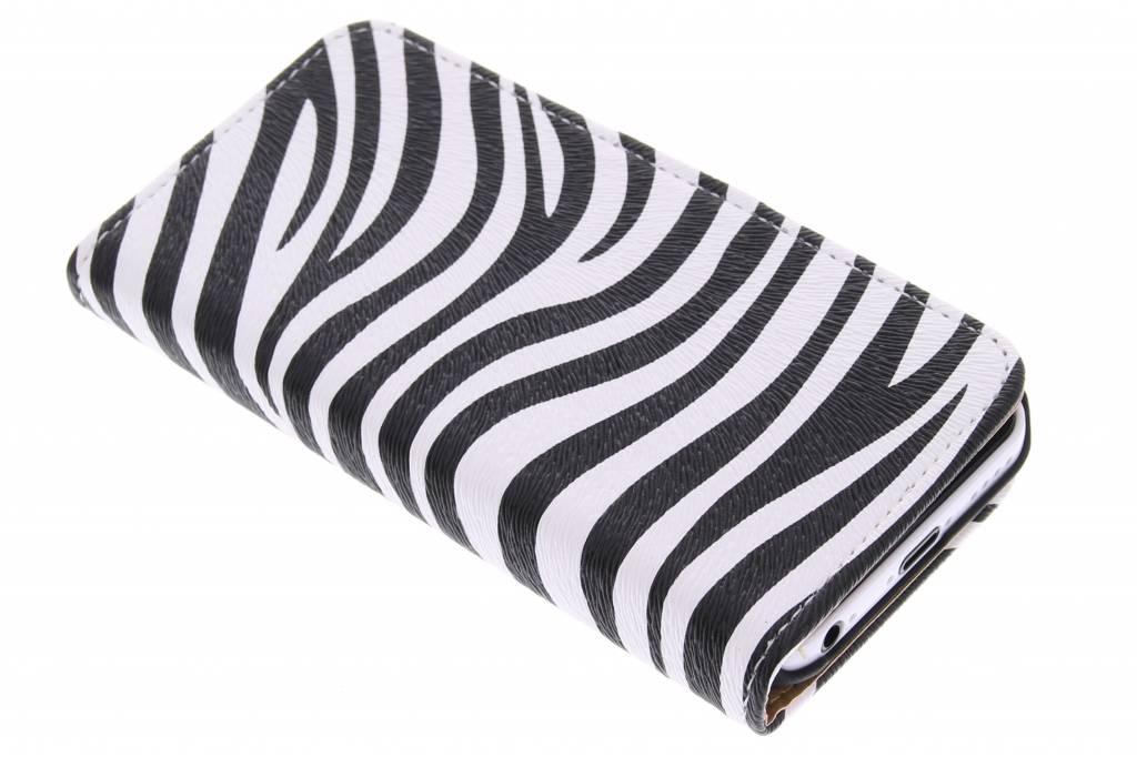 Witte zebra booktype hoes voor de iPhone 5c