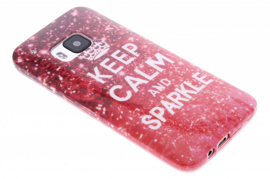 Keep calm and Sparkle design TPU siliconen hoesje voor de HTC One M9