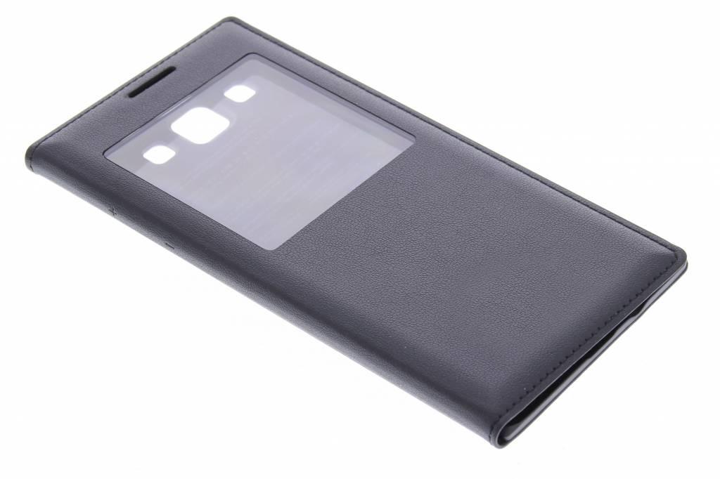 Zwarte zelfklevende flipcover met venster Samsung Galaxy A5