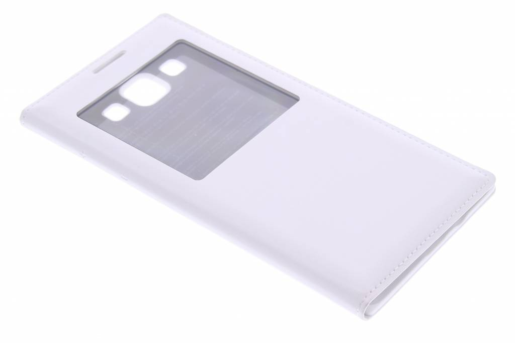 Witte zelfklevende flipcover met venster Samsung Galaxy A5