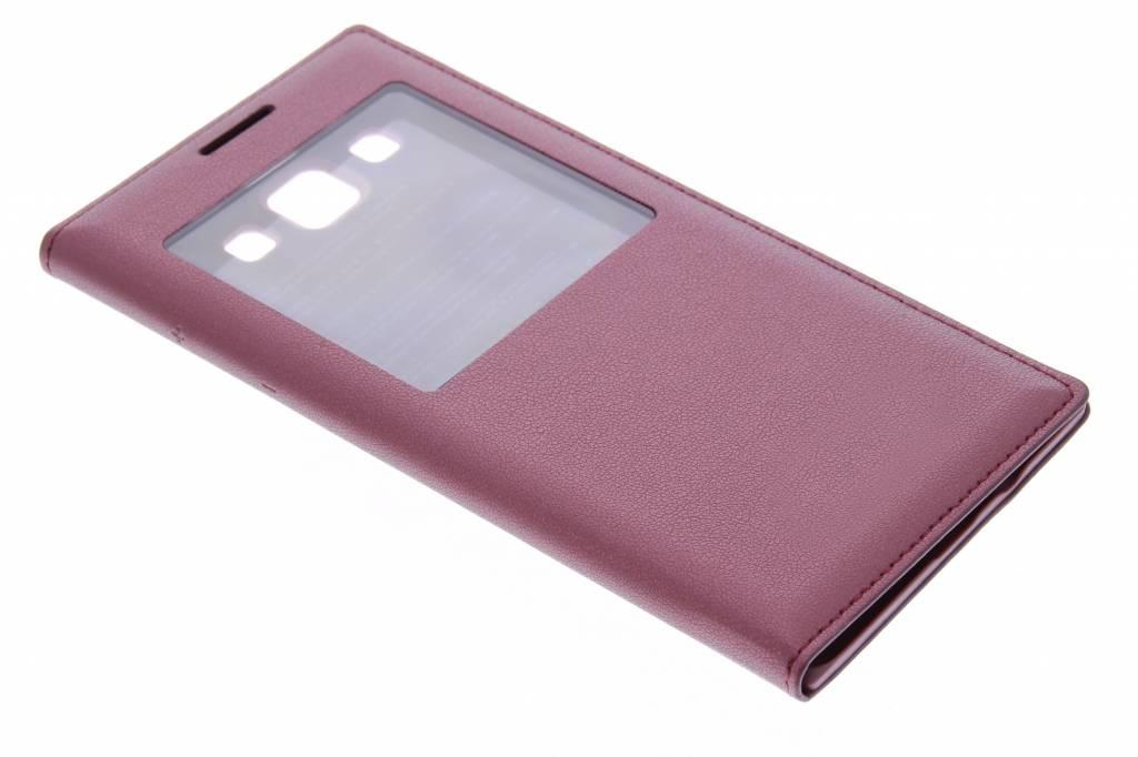 Rode zelfklevende flipcover met venster Samsung Galaxy A5