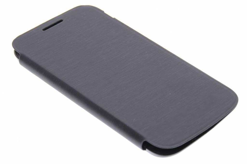 Zwarte flipcover voor de Samsung Galaxy Core Plus