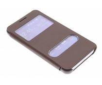 Bruin slim booktype hoes Samsung Galaxy Core 2