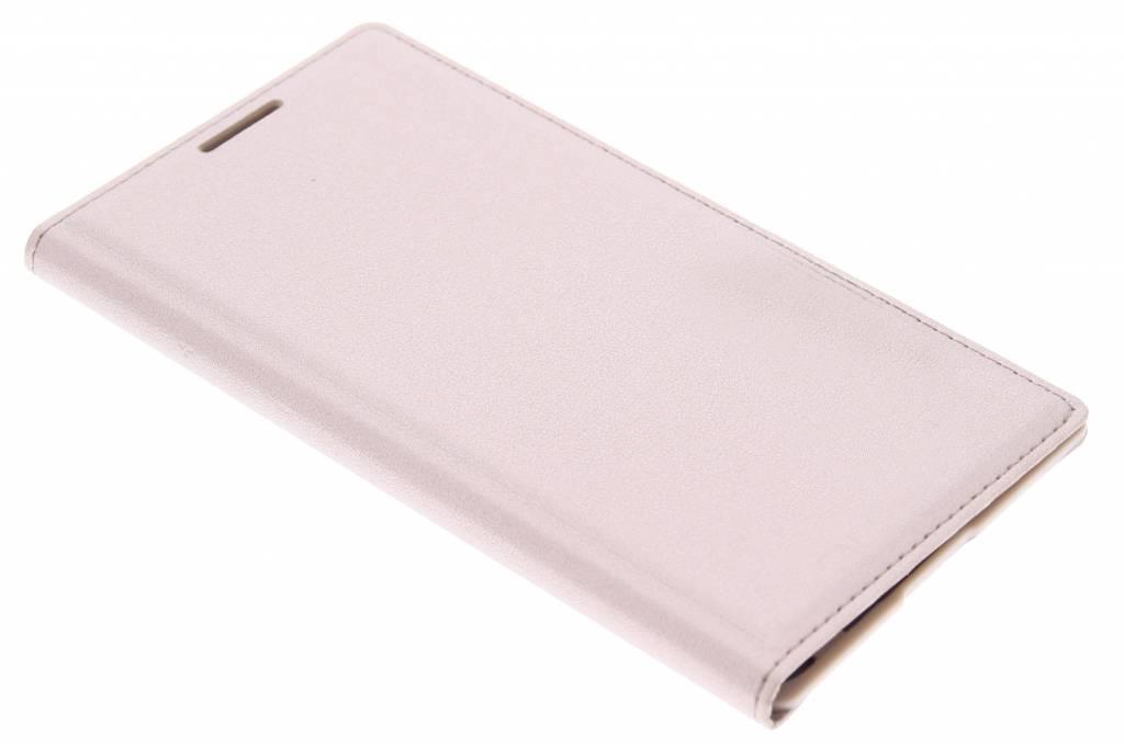 Gouden flip wallet voor de Samsung Galaxy Core 2