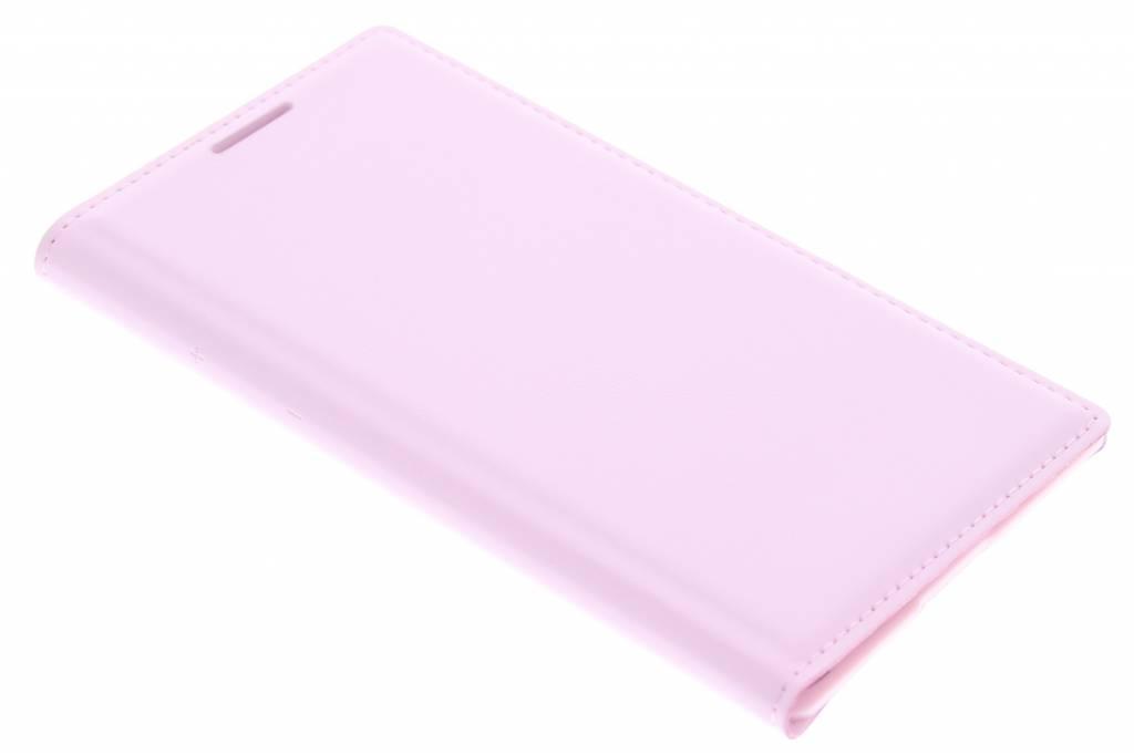 Roze flip wallet voor de Samsung Galaxy Core 2