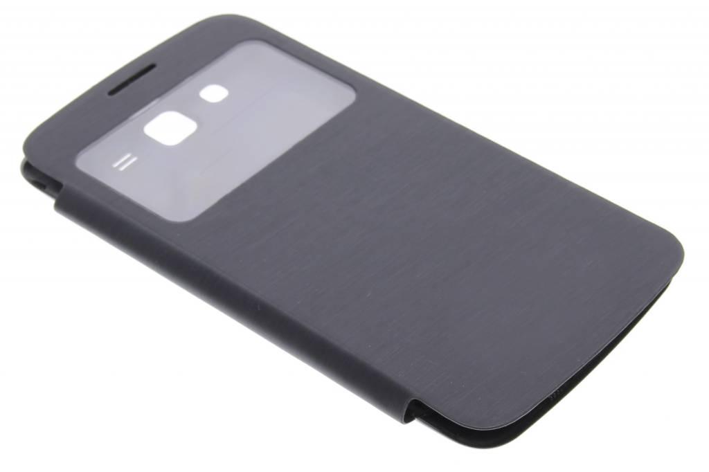 Zwarte flipcover met venster voor de Samsung Galaxy Grand 2