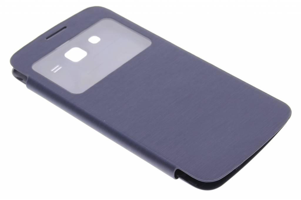 Donkerblauwe flipcover met venster voor de Samsung Galaxy Grand 2