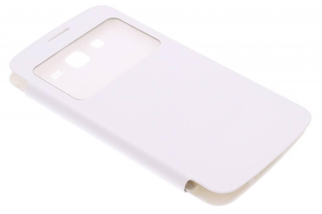 Witte flipcover met venster voor de Samsung Galaxy Grand 2