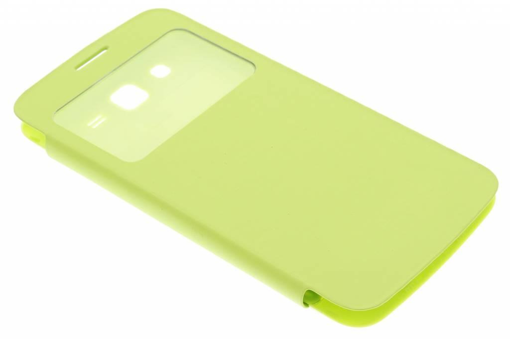 Groene flipcover met venster voor de Samsung Galaxy Grand 2