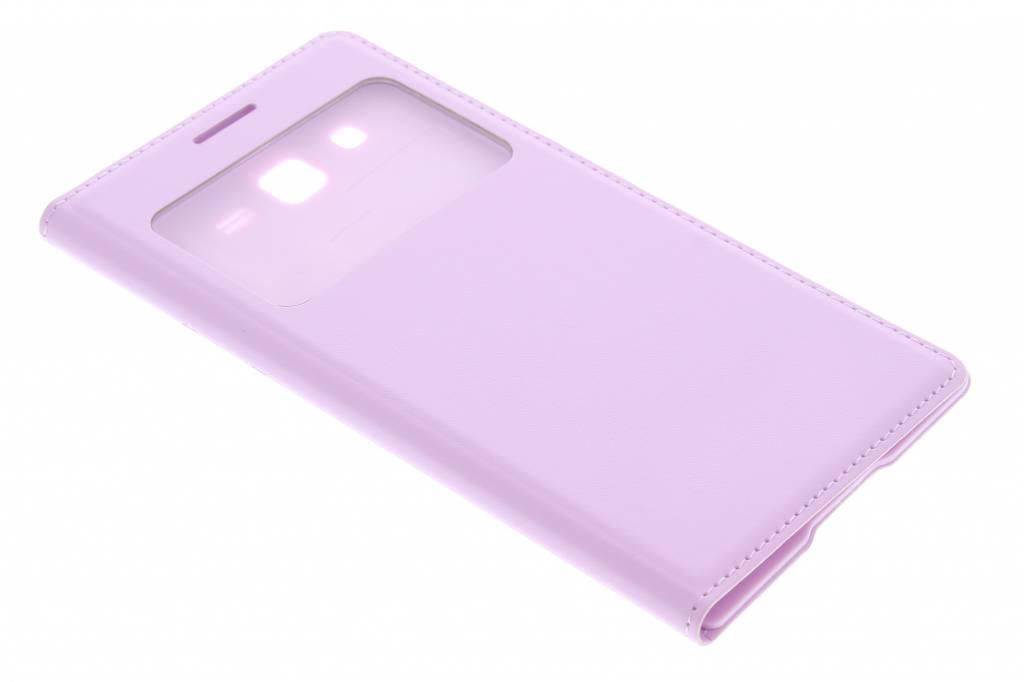 Roze flipcover met venster voor de Samsung Galaxy Grand 2