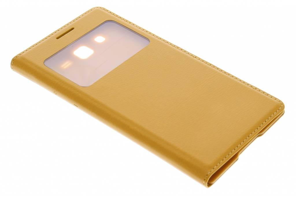 Gele flipcover met venster voor de Samsung Galaxy Grand 2