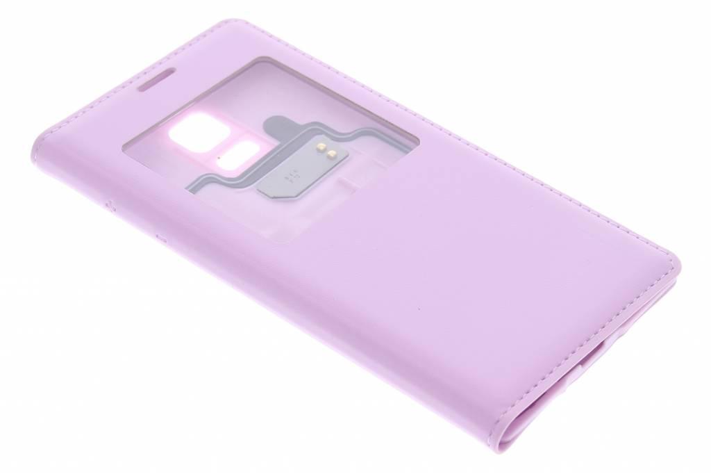 Roze flipcover met venster voor de Samsung Galaxy S5 Mini