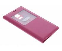 Fuchsia flipcover met venster Samsung Galaxy S5 Mini