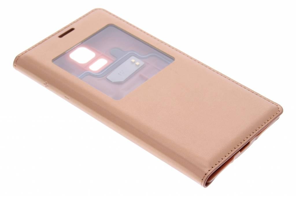 Metallic koper flipcover met venster voor de Samsung Galaxy S5 Mini