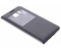 Zwart flipcover met venster Samsung Galaxy Alpha