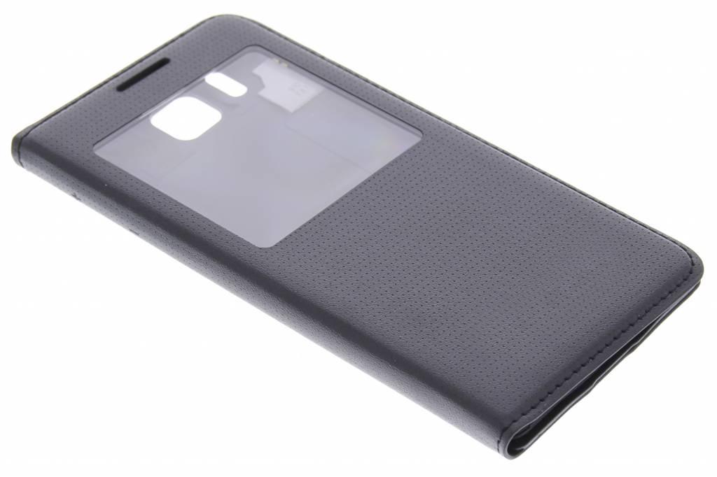 Zwarte flipcover met venster voor de Samsung Galaxy Alpha