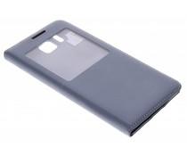 Grijs flipcover met venster Samsung Galaxy Alpha