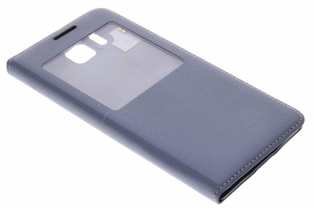 Grijze flipcover met venster voor de Samsung Galaxy Alpha