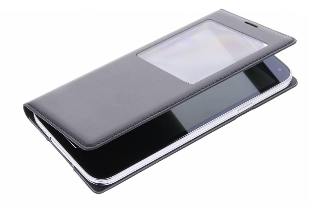 Rabat Noir Avec Fenêtre Pour Samsung Galaxy Alpha u8L0q