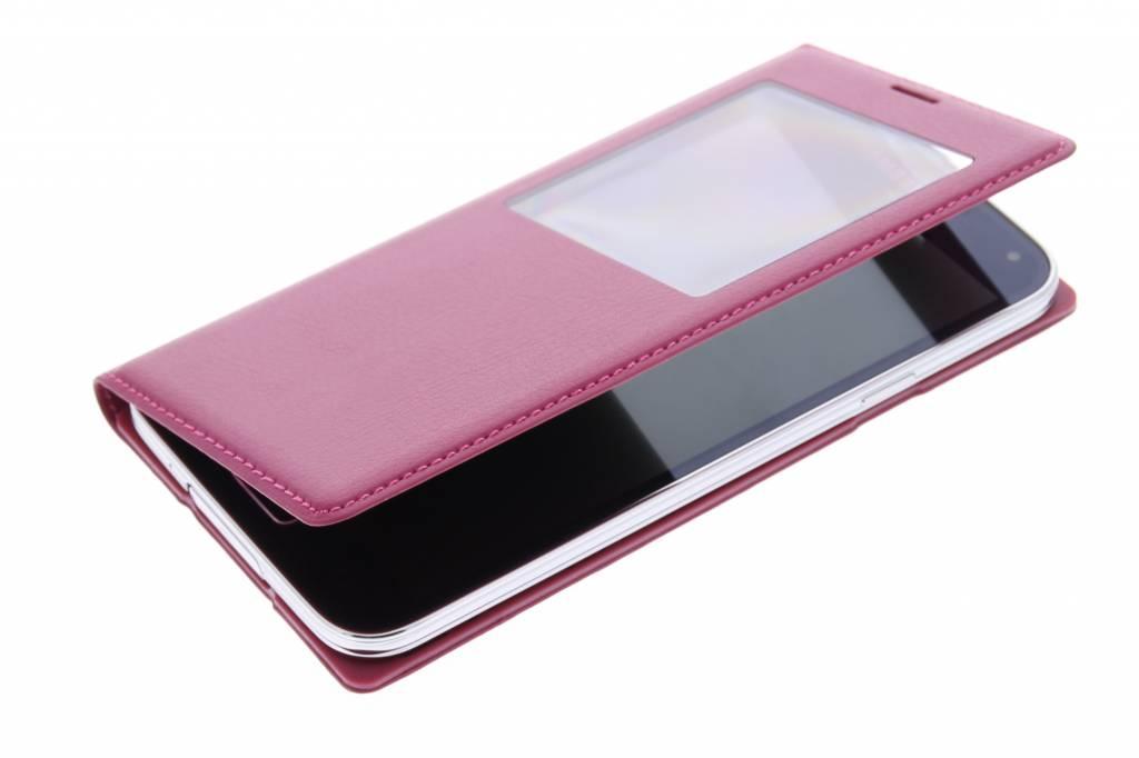 Fuchsia Couvercle Rabattable Pour Samsung Galaxy S5 (plus) dplqGKV