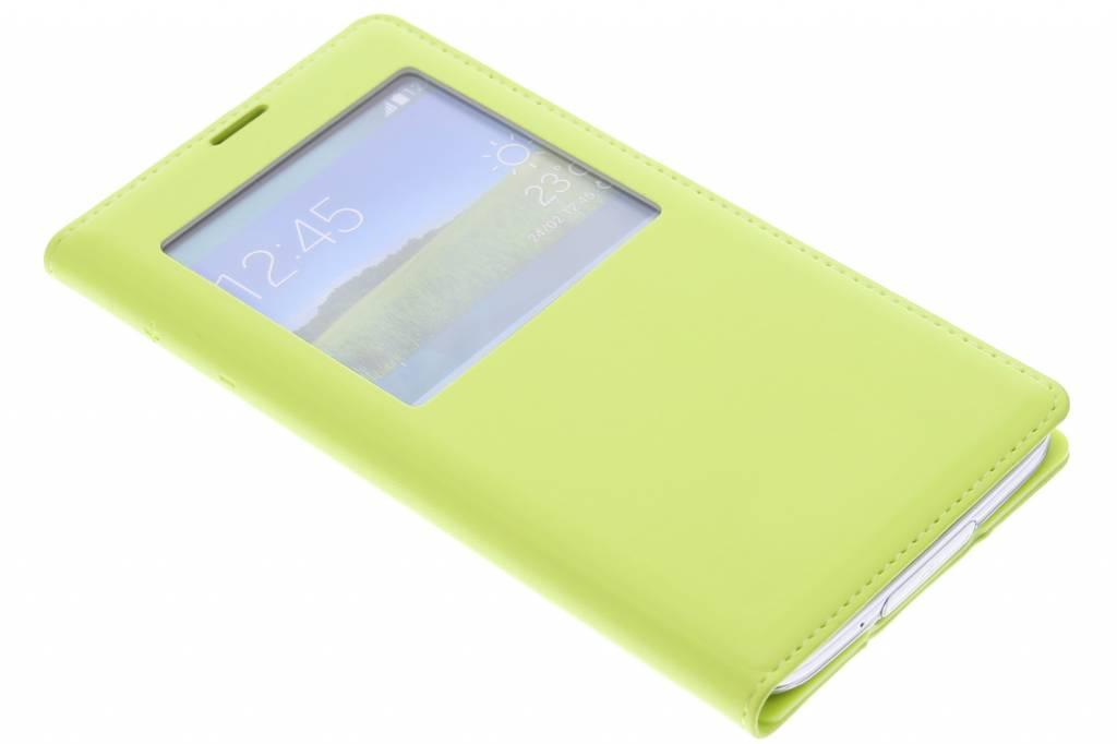 Groene flipcover met venster voor de Samsung Galaxy S5 (Plus)