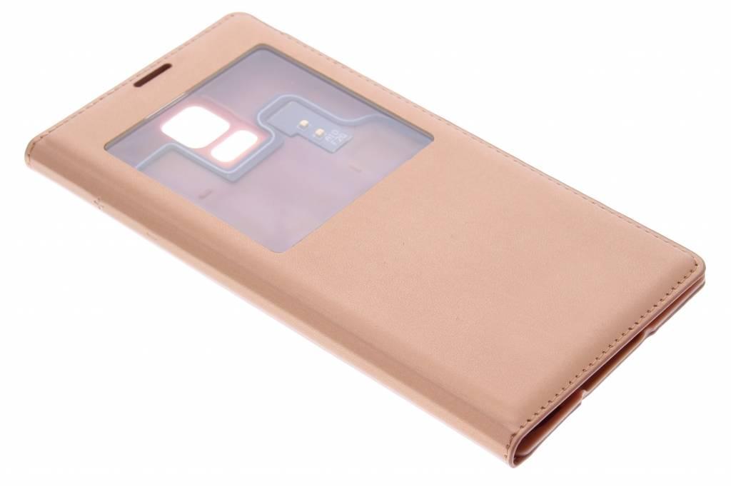 Koperkleurige flipcover met venster voor de Samsung Galaxy S5 (Plus)
