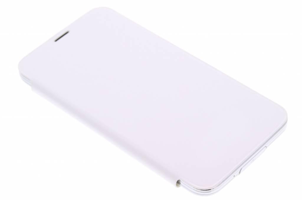 Witte glanzende flipcover voor de Samsung Galaxy S5 (Plus)