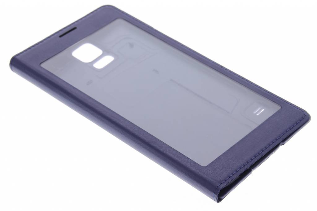 Paarse flipcover met venster voor de Samsung Galaxy S5 (Plus)