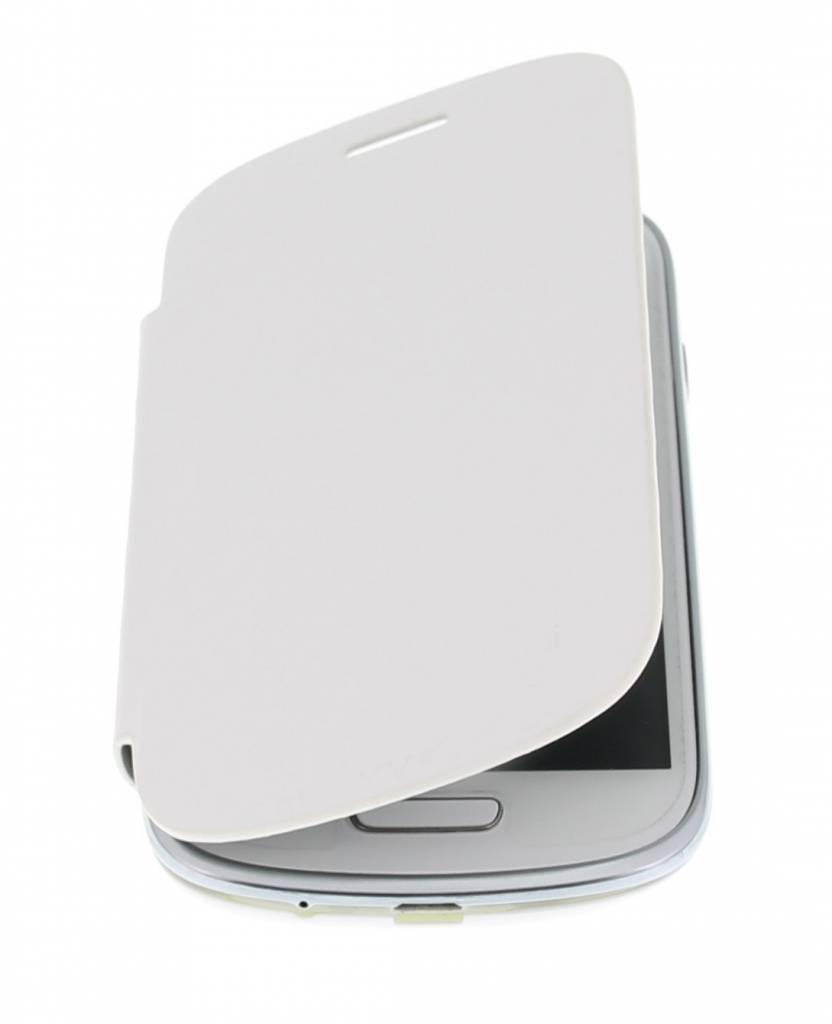 Witte flipcover voor de Samsung Galaxy S3 Mini