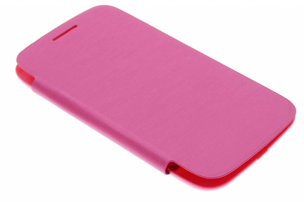 Fuchsia flipcover voor de Samsung Galaxy Core