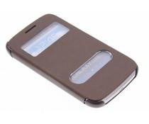 Slim booktype hoes met venster Samsung Galaxy Core