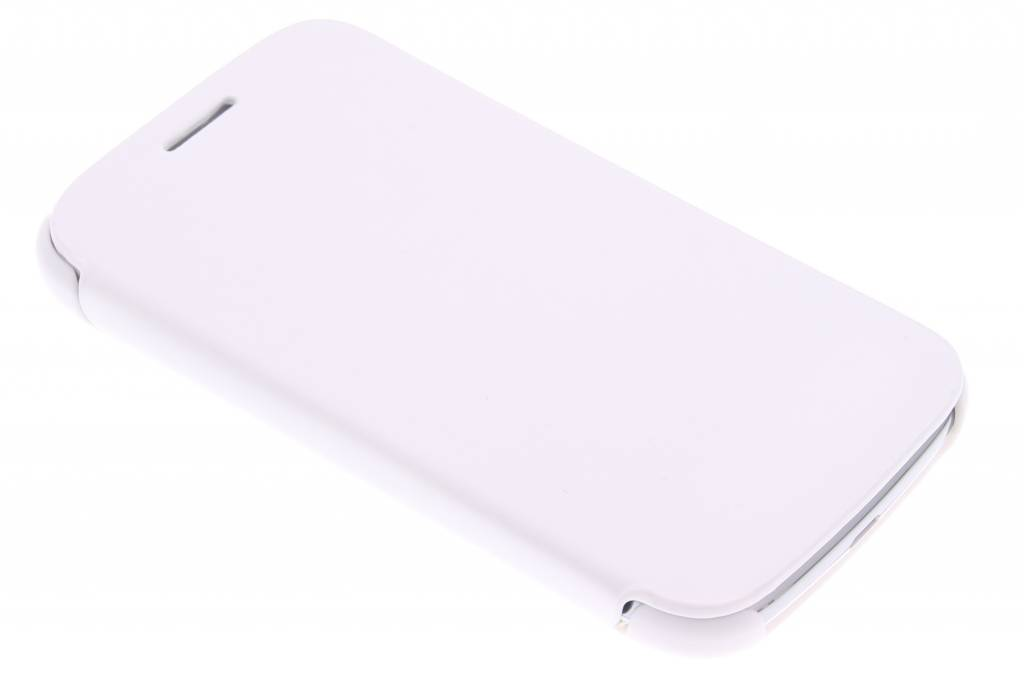 Witte slim booktype hoes voor de Samsung Galaxy Core